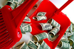 De dollar verzwakte Stock Foto's