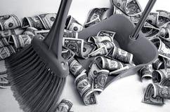 De dollar verzwakte Stock Fotografie