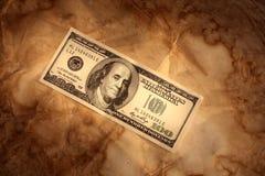 De dollarachtergrond van Grunge Royalty-vrije Stock Foto