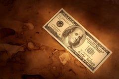 De dollarachtergrond van Grunge Royalty-vrije Stock Foto's