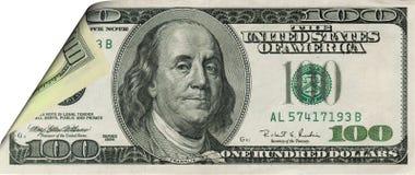 De dollarbankbiljet van de krul royalty-vrije stock foto's