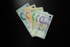 De Dollarbankbiljet van Singapore Stock Afbeelding