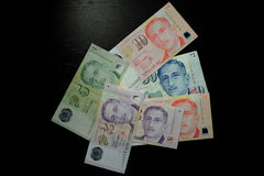 De Dollarbankbiljet van Singapore Stock Foto's