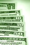 De dollarbankbiljetten van de V.S. Stock Fotografie