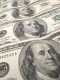 De dollarbankbiljetten van de V.S. Stock Afbeelding