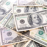 De bankbiljettenachtergrond van de dollar Royalty-vrije Stock Foto