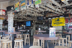 De dollarbar van Willie T's in Key West Stock Fotografie