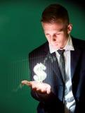 De dollarhandelaar. Royalty-vrije Stock Foto's