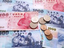 De dollarmunt van Taiwan royalty-vrije stock foto's