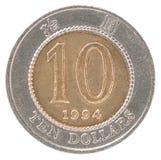 De dollarmuntstuk van Hong Kong Stock Fotografie