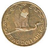 2 de dollarmuntstuk van Nieuw Zeeland Royalty-vrije Stock Foto's