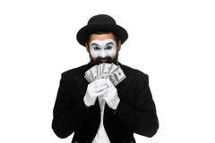 De dollarrekeningen van de zakenmanholding stock fotografie