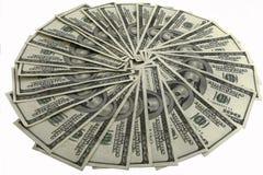 De dollarrekeningen van Hundert Royalty-vrije Stock Afbeeldingen