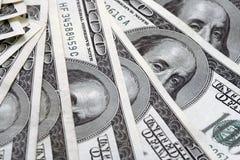 De dollarrekeningen van Hundert Royalty-vrije Stock Foto's