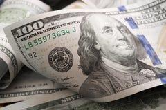 De dollars liggen chaotically - Beeld royalty-vrije stock afbeelding
