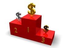 De dollars op voetstuk Stock Afbeelding