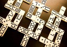 De dollars van de domino Stock Fotografie
