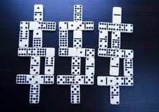 De dollars van de domino Royalty-vrije Stock Foto