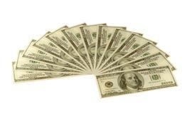 De dollars van de ventilator royalty-vrije stock foto's