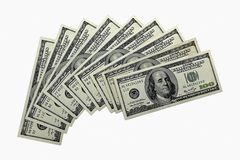De dollars van het geld Stock Afbeelding