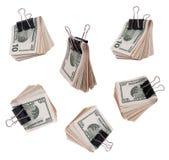 De dollars van het pak Stock Foto's