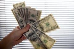 De dollars van honderden Royalty-vrije Stock Afbeeldingen