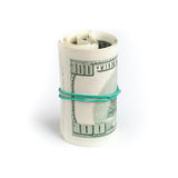 De dollars van Verenigde Staten, broodje van honderd USD-bankbiljetten Royalty-vrije Stock Fotografie