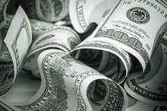 De dollars van Verenigde Staten, honderd USD-bankbiljetten Stock Afbeeldingen