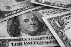 De Dollars van Verenigde Staten sluiten omhoog Stock Foto's