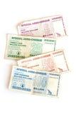 De dollars van Zimbabwe Stock Foto