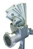 De dollars worden gemalen Royalty-vrije Stock Fotografie