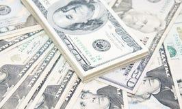 De dollarsachtergrond van de V Stock Afbeeldingen