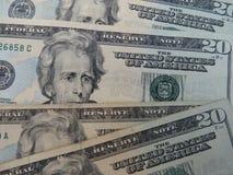 De dollarsachtergrond van de V Royalty-vrije Stock Afbeeldingen