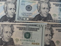 De dollarsachtergrond van de V Royalty-vrije Stock Fotografie