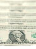 De dollarsachtergrond van de V.S. Stock Afbeelding