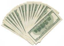 De dollarsachtergrond van de V.S. Royalty-vrije Stock Afbeeldingen