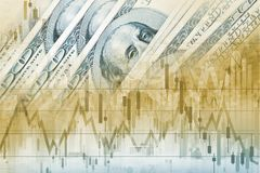 De Dollarsforex van Amerika Handel Royalty-vrije Stock Foto's