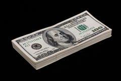 De dollarstapel van de V.S. Stock Foto