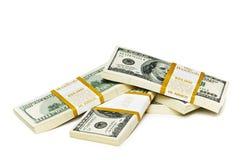 De dollarstapels van het tienduizend Stock Foto's