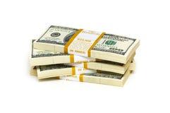 De dollarstapels van het tienduizend Royalty-vrije Stock Fotografie
