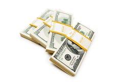 De dollarstapels van het tienduizend Stock Afbeelding