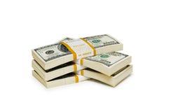 De dollarstapels van het tienduizend Royalty-vrije Stock Afbeelding
