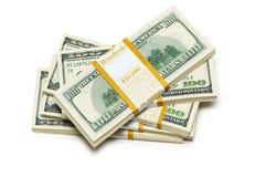 De dollarstapels van het tienduizend Stock Fotografie