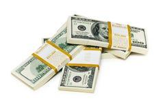 De dollarstapels van het tienduizend Royalty-vrije Stock Foto