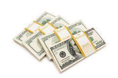 De dollarstapels van het tienduizend Royalty-vrije Stock Foto's