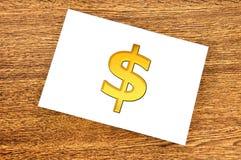 De dollarsymbool van de nota Royalty-vrije Stock Afbeelding