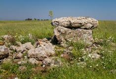 De dolmen, oude begrafenisplaats in Gamla-Natuurreservaat, Israël Royalty-vrije Stock Fotografie