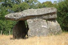 De Dolmen van Bagnol in Limousin, Frankrijk Stock Afbeeldingen