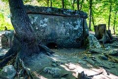 De dolmen van de Kaukasus in bos Royalty-vrije Stock Afbeeldingen