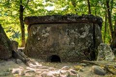 De dolmen van de Kaukasus in bos Stock Afbeelding